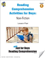Reading Comprehension Activities for Boys: Non-Fiction Grade 6