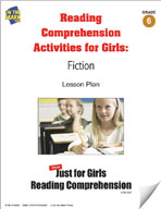 Reading Comprehension Activities for Girls: Fiction Grade 6