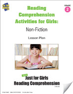 Reading Comprehension Activities for Girls: Non-Fiction Grade 2