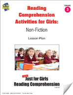Reading Comprehension Activities for Girls: Non-Fiction Grade 3