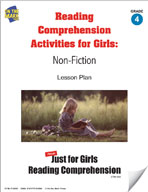 Reading Comprehension Activities for Girls: Non-Fiction Grade 4