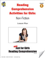 Reading Comprehension Activities for Girls: Non-Fiction Grade 6