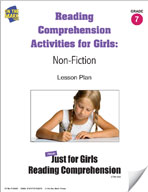 Reading Comprehension Activities for Girls: Non-Fiction Grade 7