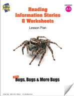 Reading Information Stories and Worksheets on Insects Lesson Plan