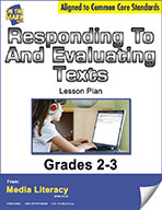 Responding to and Evaluating Texts Lesson Plan   (eBook)