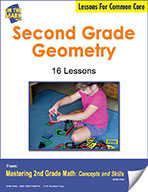 Second Grade Geometry Lesson for Common Core (eLesson eBook)