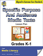 Specific Purpose and Audience Media Texts Lesson Plan (eBook)