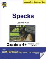 Specks (Fiction - Narrative / Mystery) Grade Level 2.2 Aligned to Common Core e-lesson plan