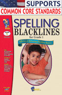 Spelling Blacklines Grade 1 (Enhanced eBook)