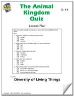 The Animal Kingdom Quiz Lesson Plan