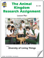 The Animal Kingdom Research Assignment Lesson Plan