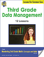Third Grade Data Management Lessons for Common Core (eLesson eBook)