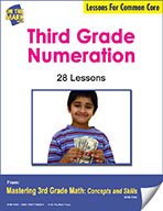 Third Grade Numeration Lessons for Common Core (eLesson eBook)