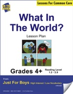 What in the World? (Fiction - Narrative Writing) Grade Level 1.2 Aligned to Common Core e-lesson plan