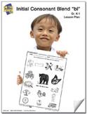 bl Initial Consonant Blend Lesson Plan K-1