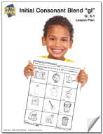 gl Initial Consonant Blend Lesson Plan K-1