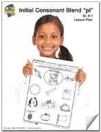 pl Initial Consonant Blend Lesson Plan K-1