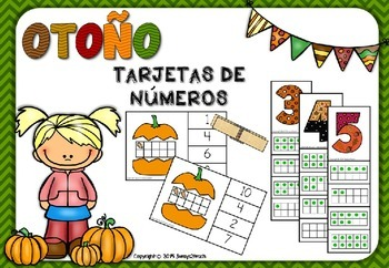 OTOÑO -TARJETAS DE NÚMEROS-