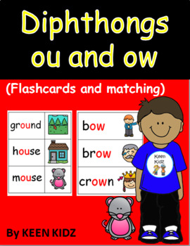 OU AND OW FLASHCARDS AND MATCHING