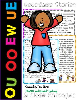 OU UE EW and OO Second Grade Decodable Stories Level 2 Unit 15 Intervention RTI