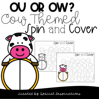 OU/OW Cow Themed Spin and Cover