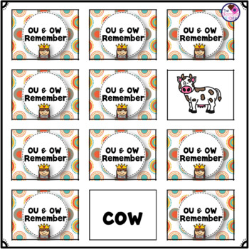 OU & OW Diphthong Memory Game