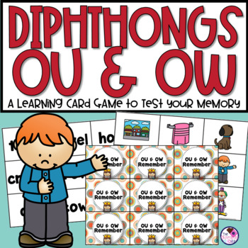 OU & OW Diphthong Memory Game