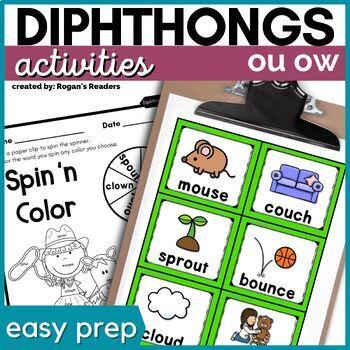 OU OW Dipthongs Activities