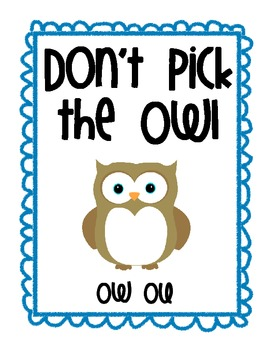 OU OW Don't pick the OWL