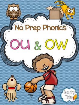 OU OW No Prep Phonics Pack