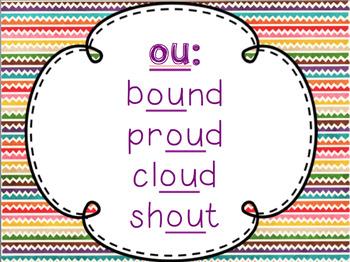OU OW Special Vowel Sounds