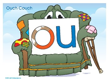 OU (Ouch Couch) Word Buddy Poster
