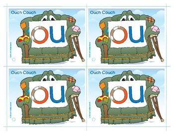 OU (Ouch Couch) Word Buddy Card