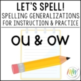 OU and OW Spelling Practice