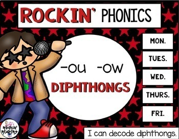 OU and OW Diphthongs Activities and Games