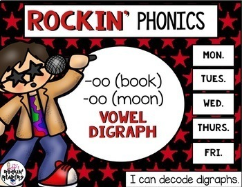 OO (book) and OO (moon) Vowel Digraphs Activities and Games