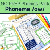 OU and OW Worksheets & Activities | No Prep Phonics | Dipthongs