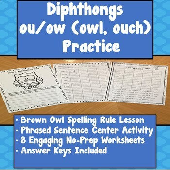 OU and OW (ouch, owl) Diphthongs Practice