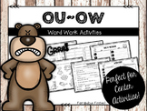 OU OW Word Work Activities