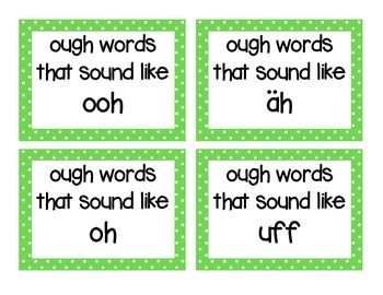 OUGH Word family Phonics Pronounciation sort with assessment in Owl theme