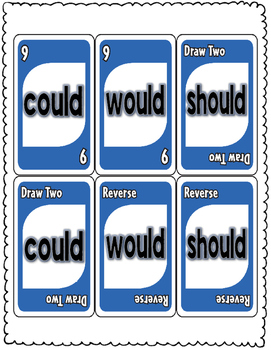 OULD: could, would, should