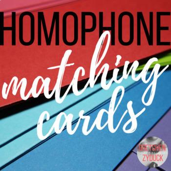 Homophone Matching Cards