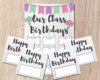 OUR CLASS BIRTHDAYS Classroom Poster | Bulletin Board Calendar | Happy Birthday