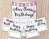 OUR CLASS BIRTHDAYS Classroom Poster   Bulletin Board Cale