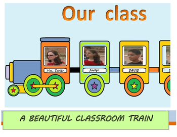 OUR CLASS TRAIN - Beautiful  classroom display