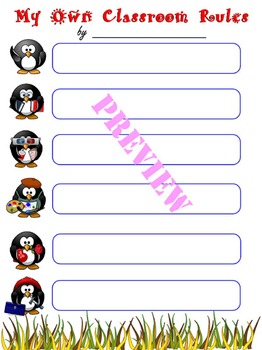 OUR CLASSROOM RULES & MY OWN CLASSROOM RULES - set of 2 templates in 6 colors