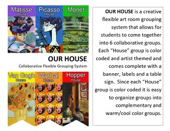 Art Room: OUR HOUSE flexible grouping system