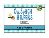 SPEECH HELPERS (Book and Activities)