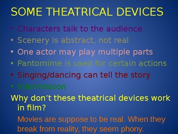 OUR TOWN: Theatrical Devices used in the play