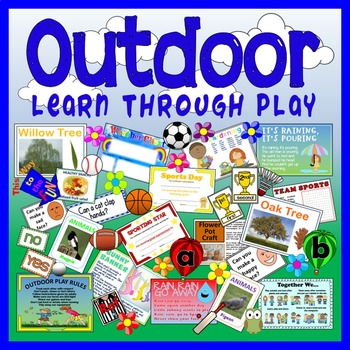 OUTDOOR PLAY LEARNING TEACHING RESOURCES EARLY YEARS KEY STAGE 1-2 LITERACY